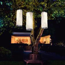 Solar-Lichtsäule, 3er-Set - Stimmungsvoll leuchtende Lampions verzaubern Ihren Garten. Ohne Stromanschluss. Ohne Kerzen.