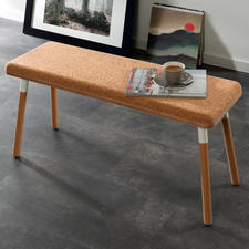 Design-Sitzbank Pluta - Trendmaterial Kork – endlich auch als Sitzbank. Außergewöhnlich, stylish, robust. Sorgt von Natur aus für behagliche Atmosphäre.