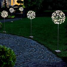 Gartenkugel - Perfekt als Rankhilfe, Lichtobjekt oder pur als Skulptur. Für drinnen und draußen.