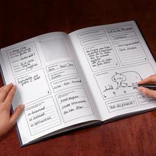 Das Buch der Freunde bietet Platz für 15Eintragungen.