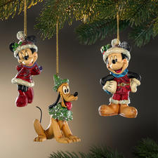 Disney Traditional Weihnachtsfiguren - Handbemalte Folk-Art-Objekte des prämierten US-Künstlers Jim Shore.