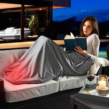 Beheizbarer Bodywarmer - Hüllt Sie rundum in wohlige Wärme. Ideal für drinnen und draußen. Engt nicht ein. Und Sie müssen nie mehr mit kalten Füßen einschlafen.