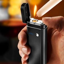 5-in-1 Multi-Tool - Powerbank, Taschenlampe, SOS-Blinklicht, Hygiene- und Geldscheinprüfer und flammenloses Elektro-Feuerzeug in einem.