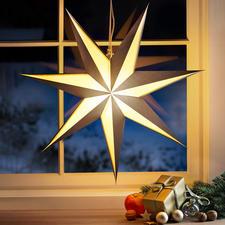Faltsternleuchte - Weihnachtsklassiker in markant modernem Design: die 3D-Faltstern-Leuchte.