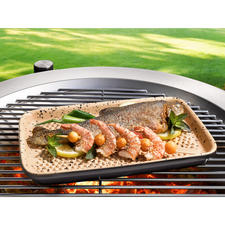 RÖMERTOPF® Lafer-BBQ-Grillplatte - Weltneuheit: Grillen auf original RÖMERTOPF®-Keramik (statt Alu).