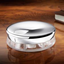 Alessi Designer Pillendose - Eleganter Edelstahl statt Plastik. Mit 7 Vorratskammern und Drehverschluss.