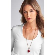 Murano-Herz-Anhänger oder Silberkette vergoldet - Venezianische Pracht: schimmerndes Gold, eingefangen von einem edlen Herz aus Murano-Glas.