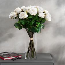Rosenstrauß Avalanche - Unvergängliche Schönheit: das Bouquet de luxe mit 22 üppigen, weißen Avalanche-Rosen.
