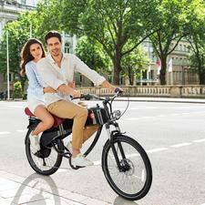Doppelter Fahrspaß: Das Stroler E-Bike ist für 2Personen zugelassen.