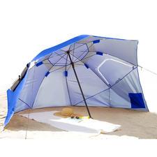 Bei Regenwetter lockern Sie einfach die Leinen und stellen den 240 cm Ø Schirm auf.