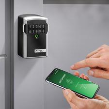 Elektronischer Schlüsseltresor - Solide. Wetterfest. Und per App steuer- und kontrollierbar. Sogar von unterwegs.