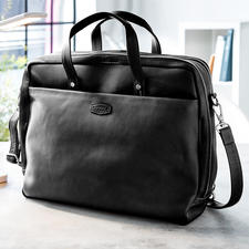 Oconi Multiway-Businesstasche - Edle Laptop-Tasche. Lässige Schulter-Bag. Und im Nu ein praktischer Rucksack.