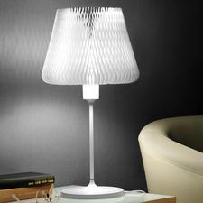 Tischleuchte mit variablem Lampenschirm - Eine Tischleuchte – 12 verschiedene Looks. In ausgezeichnetem Design.