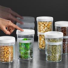 Vorratsdosen Multi-Size, 5er-Set - Schließen luftdicht und passen sich dem Inhalt variabel an.