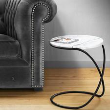 Marmortisch Infinity - Trendige Marmorplatte. Vielseitiger Beistelltisch – elegant wie eine Skulptur.