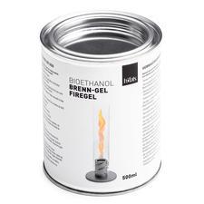 Eine Dose Bio-Ethanol-Brenngel (separat erhältlich) reicht für ca. 90Minuten Brenndauer.