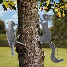Eichhörnchen und Specht