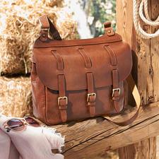 Saddle Bag - Aus feinem Rindleder. Ideal für City, Reise, Büro. Von Chiarugi/Firenze, exklusiv für Pro-Idee.