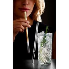 Glas-Trinkhalm, edel - Die Luxus-Variante der Glastrinkhalme: stilvoll mit Platin oder Gold veredelt.