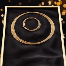 10-reihiges Gold-Armband oder 20-reihiges Gold-Collier - Prunkvolles Schmuckstück von bleibendem Wert: Das Collier aus über 40Gramm kostbarem 750erGold.