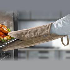 Ofen-/Grillhandschuh aus Veloursleder - Viel griffiger, sicherer (und schöner): der 38 cm-Ofenhandschuh aus weichem Veloursleder.