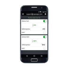 Auf Wunsch auch per Smartphone über die WineControl-App (iOS/Android, kostenlos) kontrollier- und steuerbar.