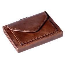 Multi Wallet mit Münzfach, Braun
