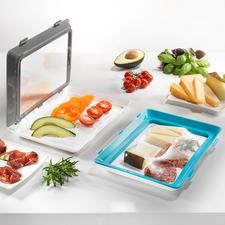 Click & Fresh-Frischhalte-Schale, 2er-Set - Geniale Frischhalte-Schalen mit Click-Deckel aus elastischer Dauerfolie. Immer wieder verwendbar.