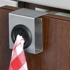 Handtuchhalter Push & Pull, 4er-Set - Elegant, stabil und mobil. Ideal für Küche, Bad, Gäste-WC. Auch für (Hand-)Tücher ohne Aufhänger.