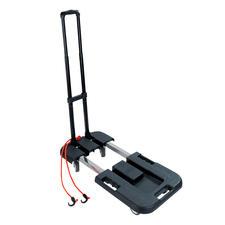 Klappbarer Transportwagen - Mit ausziehbarer Ladefläche. Zusammengelegt 13,5 cm schmal. 4,2 kg leicht. Mit 150 (!) kg Tragkraft.