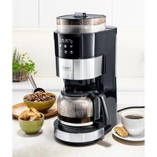 Caso Kaffeemaschine mit Mahlwerk - Die Filter-Kaffeemaschine mit Kegelmahlwerk, Bohnenbehälter, Tassenfunktion sowie Wasser- und Mahlmengen-Automatik.