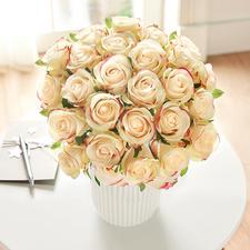 Rosenstrauß - Üppige Pracht von unvergänglicher Schönheit: das Bouquet aus 25 Premium-Edelrosen.