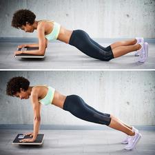 Testen Sie die vielen verschiedenen Variationen der Plankübung – von leicht bis fortgeschritten.