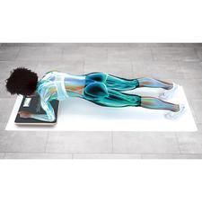 Nahezu die komplette Haltemuskulatur an Rumpf und Rücken ist aktiv, dazu die Po-, Bein-, Schulter- und Armmuskeln.