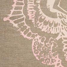 Rein handwerklich erstellter Ornament-Druck mit feinem Farbverlauf.