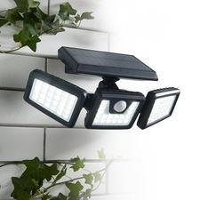 1.000-Lumen Solar-Sicherheitsleuchte - Genial flexibel einstellbare Solarleuchte für mehr Sicherheit auf Gartenwegen, Treppenstufen, Hausaufgängen, ...