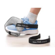 Mit dem separat erhältlichen YAB.Belt am Sportschuh befestigt, ideal auch für ein intensives Training der Bein-, Gesäß- und Bauchmuskulatur.