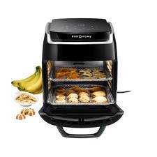 1.800-W-Heißluft-Ofen, Grill mit Drehspieß, Dörrautomat und Umluft-Ofen mit 5Ebenen in einem.