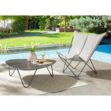 Lounge-Chair und Lounge-Tisch