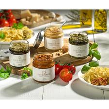 4 Gourmet-Pesti im Set (1 Glas pro Sorte)