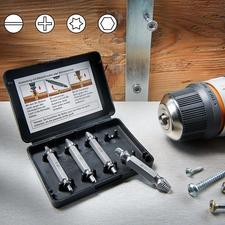 Schrauben-Entferner-Set - Defekte und abgenutzte Schrauben ausdrehen – schnell und einfach wie nie.