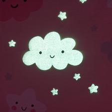 Kinderbettwäsche, Rosa Wolken