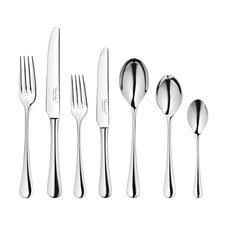 42-teiligesSet enthält: je6Gabeln, Messer, Vorspeisengabeln, Vorspeisenmesser, Esslöffel, Dessertlöffel, Teelöffel.