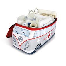 Enthält die komplette Erste-Hilfe-Ausstattung nach DIN-Norm: Verbandszeug, Tape, Schere, Feuchttücher, Schutz-Handschuhe, Rettungsdecke,…