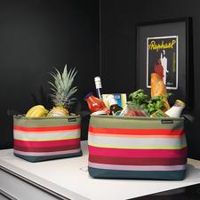 Korb-Set, 3-tlg. - So schön kann Ordnung sein: Stylishe Aufbewahrungskörbe in außergewöhnlich stimmiger Farbpracht.