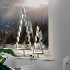LED-Tannenbaum - Puristisches Design: der Metall-Tannenbaum mit doppelt effektvoller LED-Leuchtkontur. Von Villeroy & Boch.