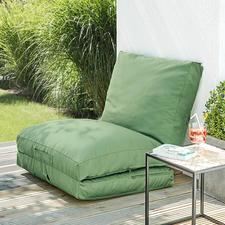 Einfach ein Abteil hochklappen und an eine Wand oder Balkonbrüstung anlehnen – schon ein bequemer Sessel.
