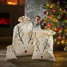 Rentier-Beutel - Nachhaltig, zeitsparend, originell: die Rentier-Beutel für Ihre Weihnachtsgeschenke.