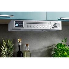 Küchen-Musikcenter EliteLineICD2200SI - Internet-, Digital- und FM-Radio, Bluetooth, USB-Wiedergabe und CD-Player. Zum platzsparenden Unterbauen.