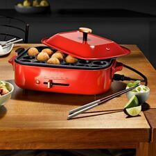 Tischgrill-/Multi-Bräter - Grillen, Braten, Kochen, Dampfgaren, ... mit nur einem eleganten Tischgerät.